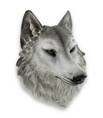 amazon com remus gray wolf head mount wall statue bust 16 in