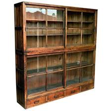 Wide Bookcase With Doors Lynx Small Wide Bookcase With Glass Doors L 80cm X D 29cm X H