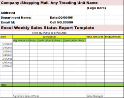 Excel Sales Report Template Sales Activity Report Template