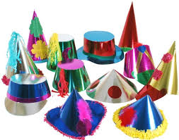 party hats box of 50 carnival hats metallic card party hats in lots of
