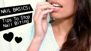 nail basics tips to stop nail biting youtube