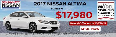 nissan altima zero percent financing ben mynatt nissan is your salisbury nc nissan dealer new u0026 used