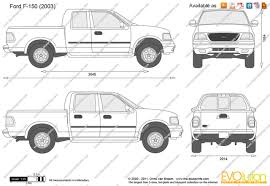 Ford F150 Truck 2002 - the blueprints com vector drawing ford f 150