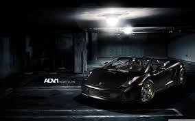 Lamborghini Gallardo Matte Black - adv 1 matte black lamborghini gallardo spyder hd desktop wallpaper