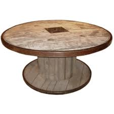 Wire Spool Table Large Industrial Spool Table Spool Tables Dining Room Table And