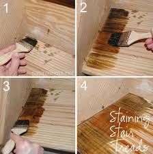 staining your stair treads is an easy way to give your staircase