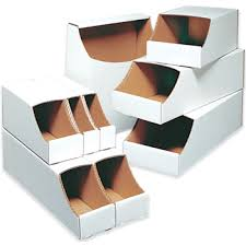 stackable bins cardboard bins stackable bins boxes