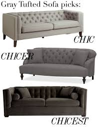 home decorators tufted sofa shopping for sofas tufted u0026 gray u2014 the decorista