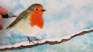 how to draw and paint a robin step by step youtube