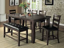 counter height dining room table bridlewood 6 piece counter height dining set reviews joss main