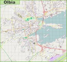 Italy Greece Map by Large Detailed Map Of Olbia