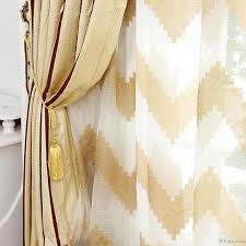 Striped Yellow Curtains Energy Saving Curtains With Striped Yellow Jacquard Cotton