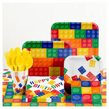 birthday party supplies building blocks birthday party supplies kit target