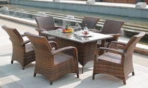 Wicker Style Outdoor Furniture by Sleek Style Outdoor Wicker Dining Table Set Sleek Style Outdoor