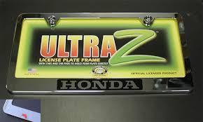 license plate frames factory honda accessories