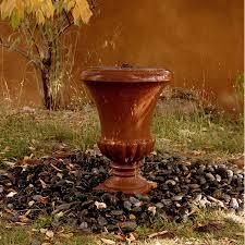 sandstone urn terra cotta color u2013 stone forest