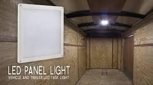 enclosed trailer led lights led panel light vehicle and trailer led task light 6 square youtube