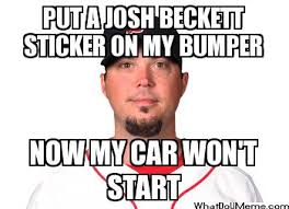 Red Sox Meme - how fucking fat is josh beckett lower lip mentality