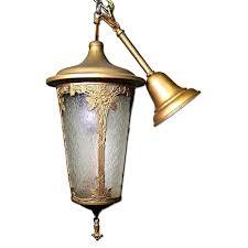 Lighting Chandelier Antique Art Nouveau Lantern Hall Light Chandelier Aptdeco
