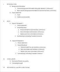 essay outline template 4 free sample example format free