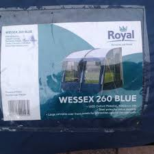 Royal Caravan Awnings Wessex Blue 260 Awning Royal Caravan Good Condition In
