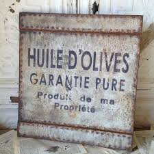 french olive oil sign paris france french shabby chic sign