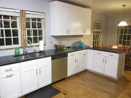 what color granite with white cabinets and dark wood floors furniture luxury and elegant material options for kitchen