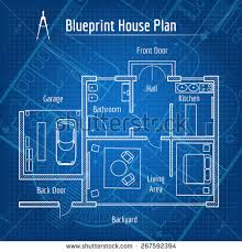 blueprint for house blueprint house plan design architecture home stock vector
