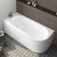 1700x725mm corner back to wall bath includes panels left hand
