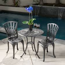 Aluminum Bistro Table And Chairs Aluminum Outdoor Bistro Sets For Less Overstock
