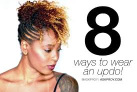 8 easy updos for short natural hair