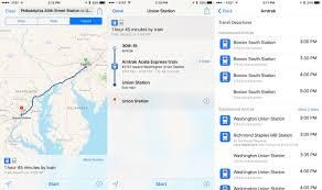 Boston Transit Map by Apple Maps Adds Amtrak Routes Boston Transit Directions Ilounge