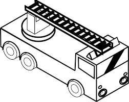 coloring pages fire engine coloring