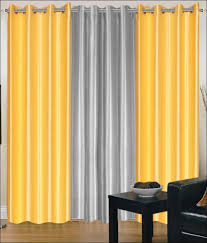 Striped Yellow Curtains Interiors Magnificent Gray Sheer Curtains Yellow White Gray
