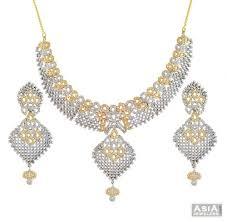 necklace sets designs images 22k lavish cz designer necklace set ajns56666 22kt gold jpg