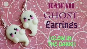Making Ghosts For Halloween by Glow In The Dark Kawaii Ghost Earrings Polymer Clay Tutorial