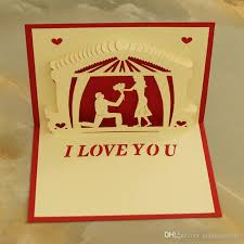 cards for marriage 3d pop up greeting cards marriage handmade kirigami