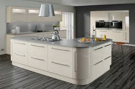 Made To Order Kitchen Cabinets by Lumi Cashmere Gloss Crest Contemporary Kitchen Collection