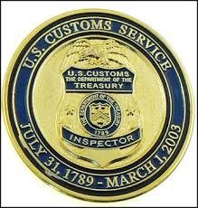 u s customs service inspector badge challenge coin