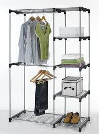Bedroom Clothes Horse Closet Organizer Storage Rack Portable Clothes Hanger Home Garment