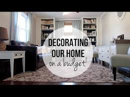 decorating our home on a budget living room youtube