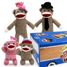 Sock Monkey Bedding Amazon Com The Sock Monkey Family Woodie Wagon Toys U0026 Games