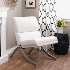Living Spaces Chairs by Rialto Bonded Leather White Chair By I Love Living Bonded Leather