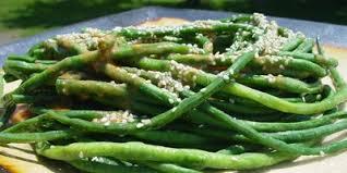 asian green bean salad with three seasame dressing lifestyle food
