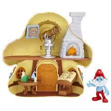 amazon smurfs mushroom house papa smurf toys u0026 games