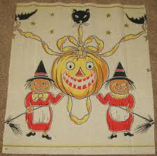 antique halloween crepe paper decoration antique