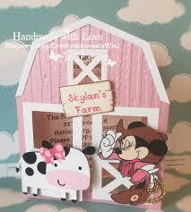 Mickey Mouse Barn Minnie Mouse Western Farm Barn Birthday By Creativemoments4you