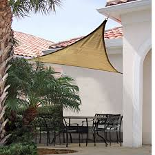 Outdoor Patio Sun Shade Sail Canopy by Shadelogic Sun Shade Sail Square Sand 12 U0027 X 12 U0027 Shelterlogic