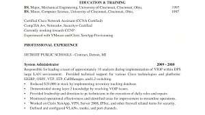 System Administrator Resume Example by Lovely Idea Vmware Resume 15 System Administrator Resume Samples