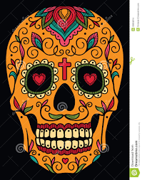 mexican sugar skull stock vector image of dead comic 33834814